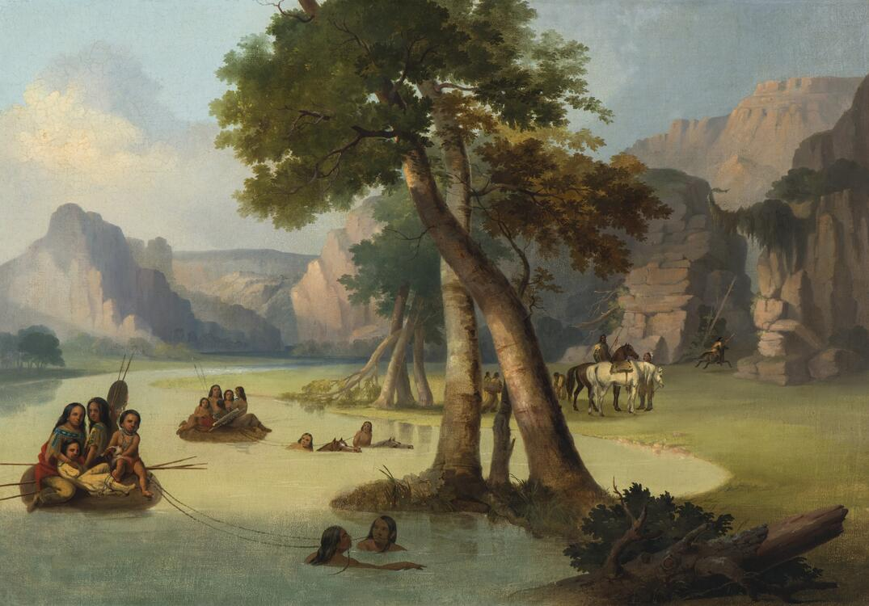 View on Milk River-Min  Territory, Blackfoot Indian Crossing