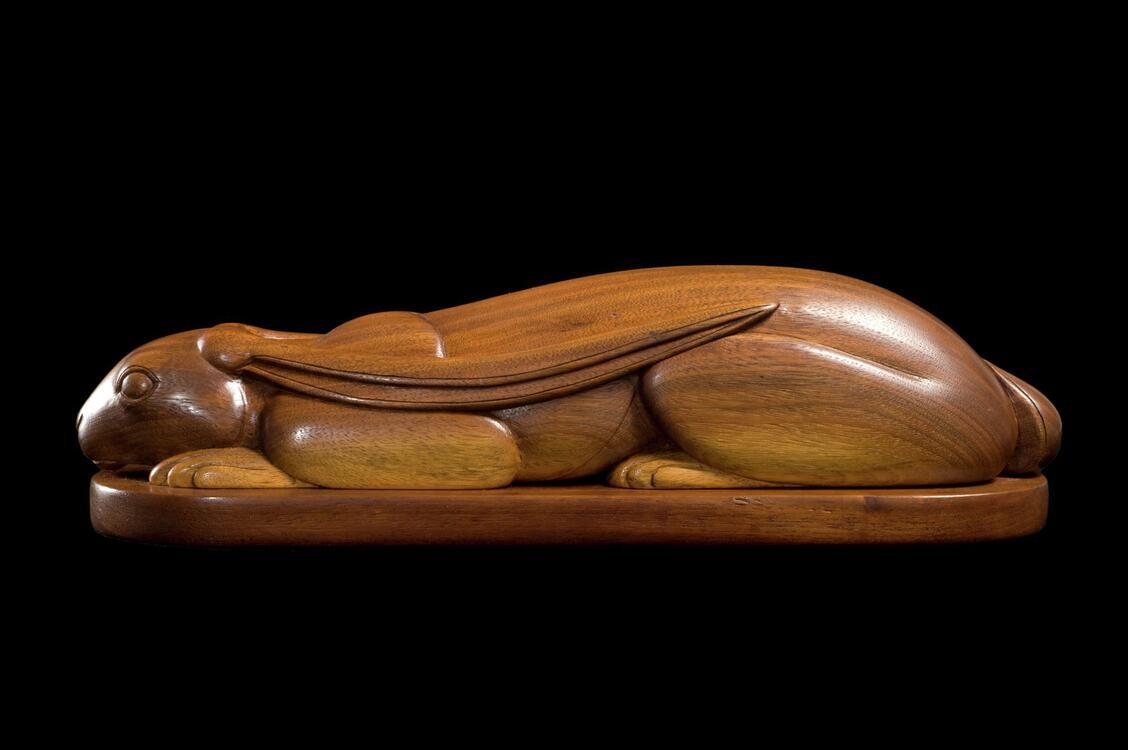 Tense jackrabbit willard stone gilcrease museum