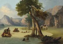 View on Milk River-Min. Territory, Blackfoot Indian Crossing