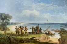 Capt John Smith and Party Landing at Jamestown May 14, 1607