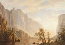 Western Landscape, Mountain Scene and River