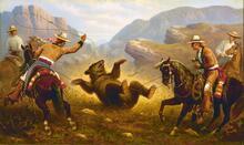 Vaqueros Lassoing a Bear