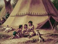 Indian Children Feeding
