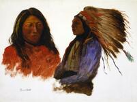 Double Portrait: Indian in Full Regalia