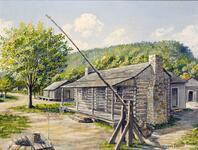 Old Creek Agency. 1850's, Muskogee