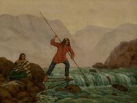 Indian Spearing Salmon