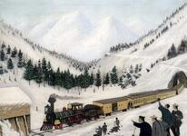 Snow Sheds on the Central Pacific Railroad in the Sierra Nevada Mountains