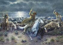 Cattle Stampede on the Chisholm Trail