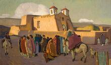 Ranchos Church with Indians