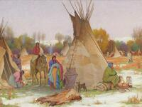 Making Camp Crow Reservation