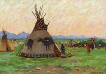 Blackfeet Sun Dance Ceremonial Medicine Lodge
