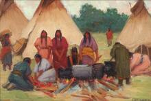 Boiled Dog Feast, Short Bull's Camp Pine Ridge