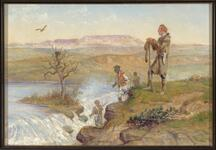 Captain Lewis at the Black Eagle Falls of the Missouri River - June 13, 1805