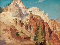 Rocks (Yellowstone Canyon, August 1911)