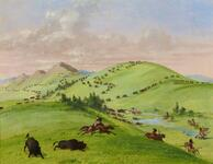 Sioux Indians Chasing Buffaloes on Upper Missouri