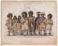 Catlin's Indian Troupe in London, 1844