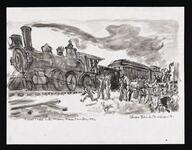 First Train into Miami Indian Territory 1896