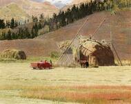 Haystacks in Wyoming