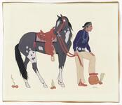 Navaho Man & Horse