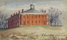 Cherokee Seminary near Tahlequah, Indian Territory