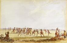 Sioux Indians Playing Lacrosse