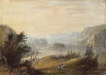 Lake and Mountain Scenery