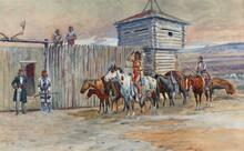 Robe Traders at Fort Benton