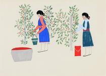 Two Women Picking Berries