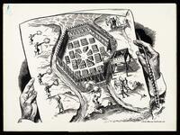Battle plan to attack Iroquois village