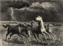 Horses Running Before a Storm