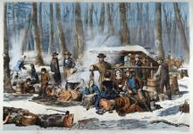 American Forest Scene- Maple Sugaring