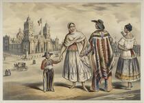 Gente del Pueblo.  Plaza Mayor y Catedral de Mexico