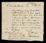 Handwritten copy of request by Return J. Meigs to John Browder