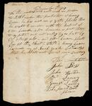 A petition signed by six persons stating that no person should settle under the protection of Henry Knave