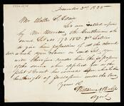 Letter from William N. Bishop, Agent, to Walter S. Adair