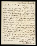 Letter from G.M. Lavender to Elias Boudinot, both of New Echota regarding the ferry