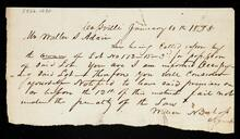 Letter from William A. Bishop, Agent, to Walter S. Adair notifying Adair to leave Lot 172-15-3