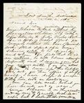 Letter from W. H. Porter in Fort Smith, Arkansas, to Friend Eno regarding George Johnson killing a negro slave