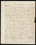 Letter from John Ross to John Howard Payne