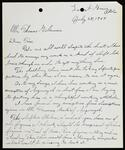 """Letter from Stone to Gilcrease about working on a bust of Sequoyah with a drawing of """"The Sofkie Makers"""""""