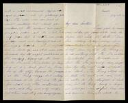 Letter and envelope from Leigh to his mother regarding suicide of King Ludwig II