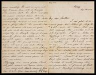 Letter and envelope from Leigh to his mother discussing a brief return from Chiemsee to Munich and a visit to Barkhaus who was on his death bed