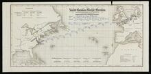 Passengers track chart for steamer Sharpsburg from Baltimore to Bremen