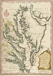 Map of the colonies of Virginia and Maryland
