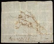Hand-drawn map of Richmond-Norfolk, Virginia area