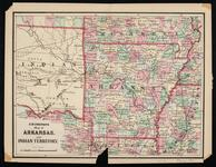 Map of Arkansas and Indian Territory