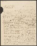 Letter from David Vann to Chief John Ross
