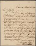 Letter from Lewis J. Gist to Chief John Ross
