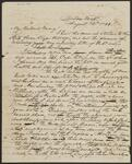 Draft Copy of Letter from Chief John Ross to Mary B. Stapler