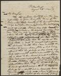 Draft Copy of Letter from Chief John Ross to Sarah F. Stapler